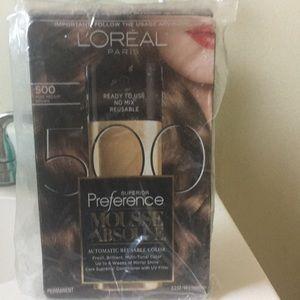 NWT L'Oréal Paris Mousse 500 medium brown dye